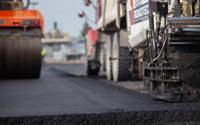 Closeup of the asphalt.