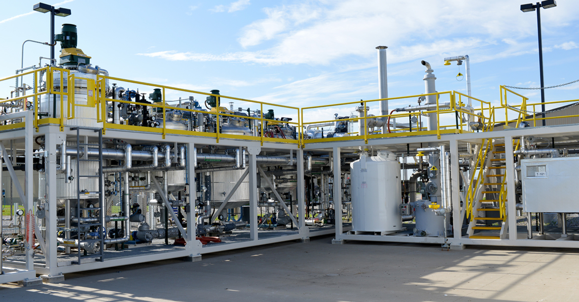 A picture of the Bio-Polymer Processing Facility.